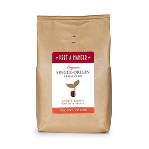 Pret's Organic Single Origin Peruvian Ground Coffee 500g