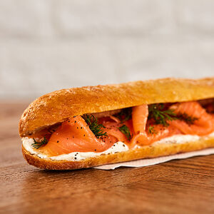 Smoked Salmon, Soft Cheese & Dill Baguette