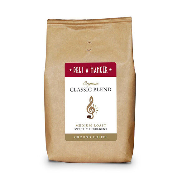 Pret's Organic Classic Blend Ground Coffee 500g
