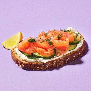Smoked Salmon & Soft Cheese Open Sandwich