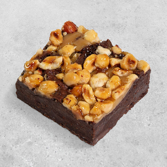 Vegan Hazelnut & Caramel Brownie