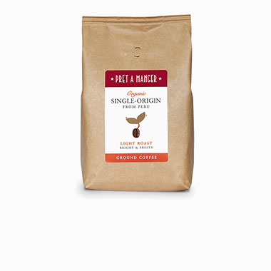 Organic Single-Origin from Peru Light Roast Bright and Fruity Ground Coffee