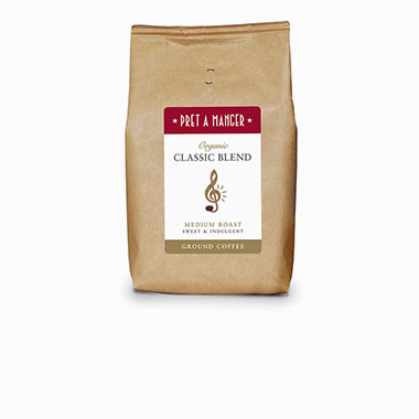Organic Classic Blend Medium Roast Sweet and Indulgent Ground Coffee