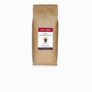 Organic Espresso Beans Dark Roast Rich and Chocolatey Whole Beans