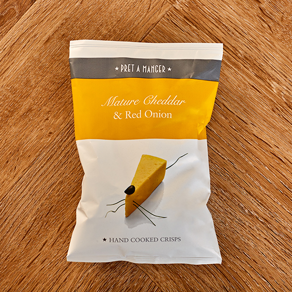 Mature Cheddar & Red Onion Crisps
